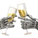 Robots and Champagne - istock