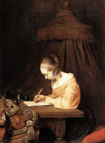 Painting: Woman Writing a Letter by Gerard Terborch