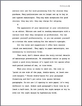 Page Two -- Manuscript Preparation