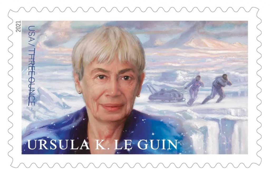 An image of the USPS Stamp honoring Le Guin